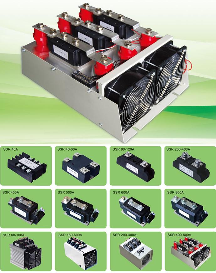 固态继电器的输入端用微小的控制信号,达到直接驱动大电流负载.